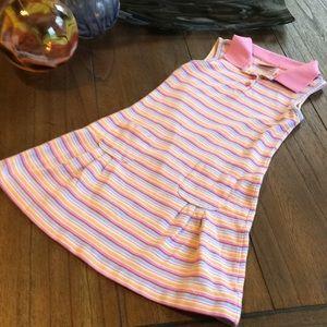 LL Bean Sleeveless Pique Cotton Dress